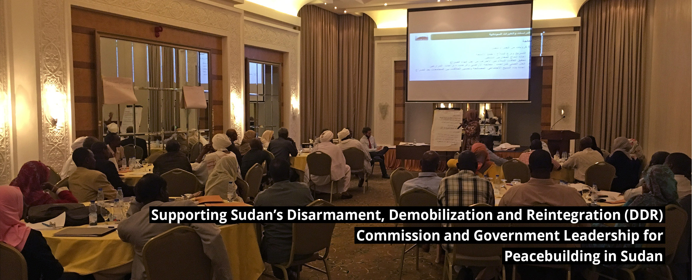 slide-7 Supporting Sudan's Disarmament, Demobilization and Reintegration (DDR) Commission and Government Leadership for Peacebuilding in Sudan