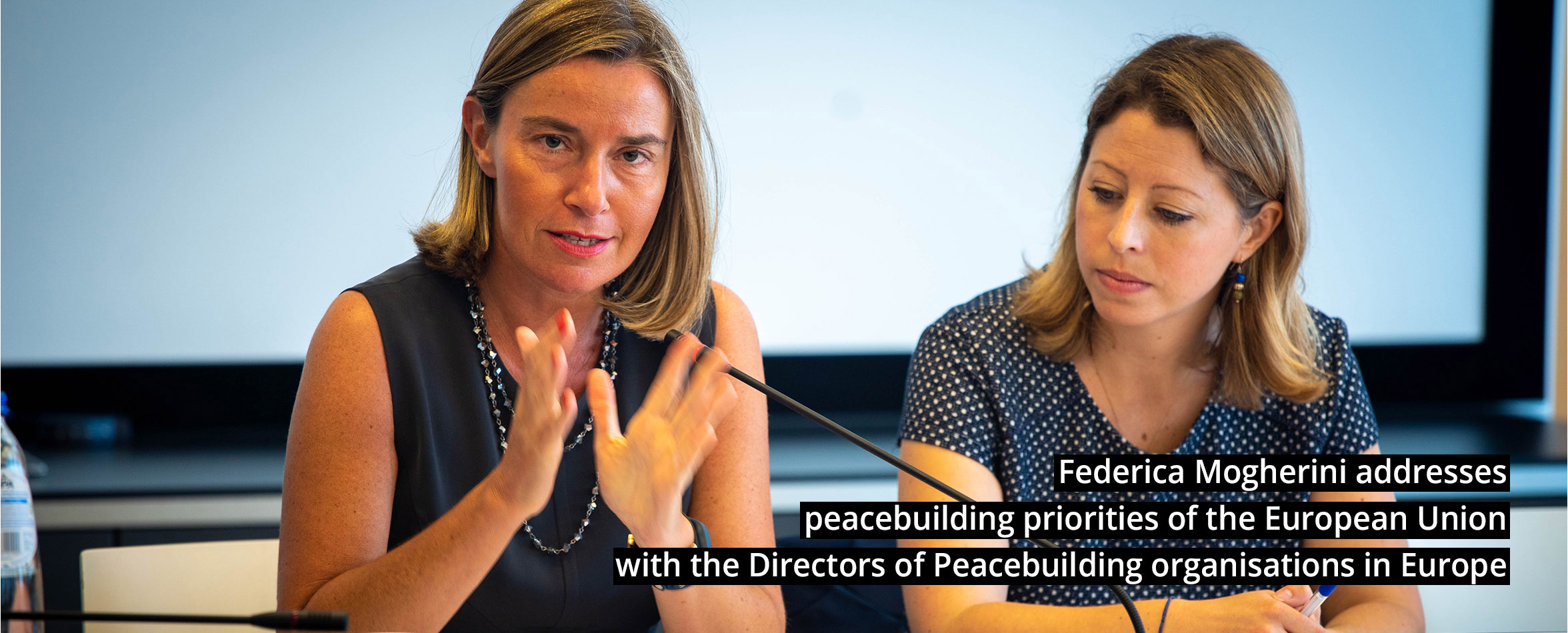slide-8 Federica Mogherini addresses peacebuilding priorities of the European Union with the Directors of Peacebuilding organisations in Europe – organised by EPLO